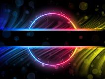 Fundo da beira do círculo do arco-íris Foto de Stock