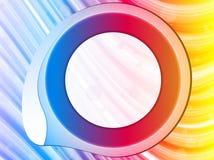 Fundo da beira do círculo do arco-íris Fotos de Stock Royalty Free