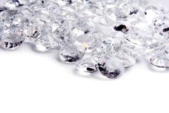 Fundo da beira do quadro do diamante Fotografia de Stock Royalty Free