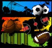 Fundo da bola dos esportes Fotos de Stock Royalty Free