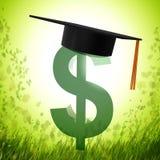 Fundo da bolsa de estudos e símbolo da graduação Imagem de Stock Royalty Free
