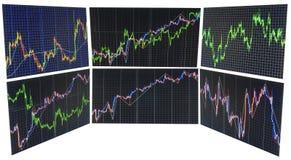 Fundo da bolsa de valores da finança Foto de Stock Royalty Free