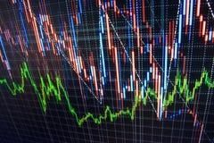 Fundo da bolsa de valores da finança Foto de Stock