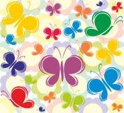 Fundo da borboleta Imagem de Stock
