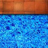 Fundo da borda da piscina. Imagem de Stock