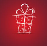 Fundo da caixa do Natal e de presente do ano novo feliz Foto de Stock Royalty Free