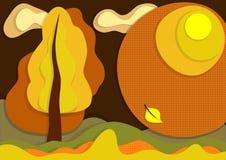 Fundo da camada do outono ilustração stock