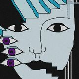 Fundo da cara Os olhos violetas imagens de stock royalty free