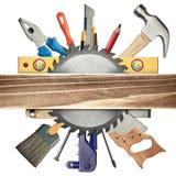 Fundo da carpintaria Fotografia de Stock Royalty Free