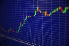 Fundo da carta da cotação das ações fotos de stock