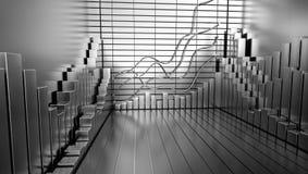 Fundo da carta do mercado de valores de ação ilustração stock