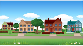 Fundo da casa do subúrbio Imagens de Stock Royalty Free