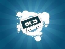 Fundo da cassete áudio Fotos de Stock Royalty Free