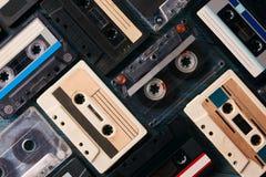 Fundo da cassete de banda magnética do vintage Fotos de Stock