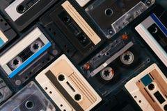 Fundo da cassete de banda magnética do vintage Imagem de Stock Royalty Free
