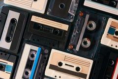Fundo da cassete de banda magnética do vintage Fotos de Stock Royalty Free