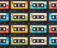 Fundo da cassete de banda magnética Vetor Imagens de Stock Royalty Free
