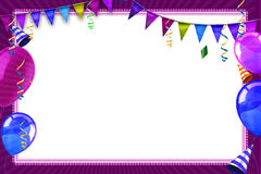 Fundo da celebração com balões e objetos do carnaval Foto de Stock