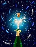 Fundo da celebração com Champagne ilustração do vetor