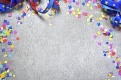 Fundo da celebração com fita encaracolado imagem de stock royalty free