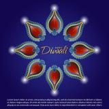 Fundo da celebração de Diwali Fotografia de Stock