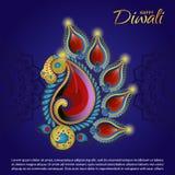 Fundo da celebração de Diwali Fotos de Stock