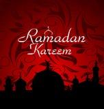 Fundo da celebração de Ramazan Fotos de Stock