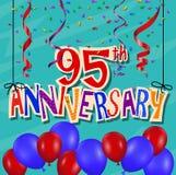 Fundo da celebração do aniversário com confetes e balão Imagens de Stock Royalty Free