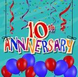 Fundo da celebração do aniversário com confetes e balão Fotos de Stock Royalty Free