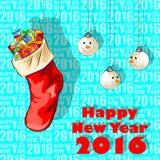 Fundo 2016 da celebração do ano novo feliz Imagens de Stock Royalty Free
