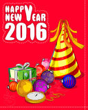 Fundo 2016 da celebração do ano novo feliz Fotos de Stock Royalty Free
