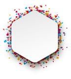 Fundo da celebração do Confetti Imagens de Stock