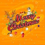 Fundo da celebração do festival do Feliz Natal Imagens de Stock Royalty Free