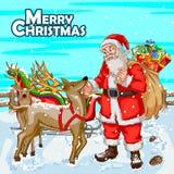Fundo da celebração do festival do Feliz Natal Foto de Stock