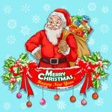 Fundo da celebração do festival do Feliz Natal Fotografia de Stock