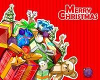 Fundo da celebração do festival do Feliz Natal Imagem de Stock