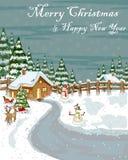 Fundo da celebração do festival do Feliz Natal Foto de Stock Royalty Free