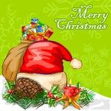 Fundo da celebração do festival do Feliz Natal Imagens de Stock