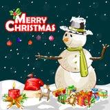Fundo da celebração do festival do Feliz Natal Fotos de Stock Royalty Free