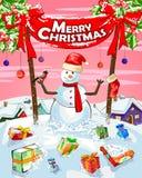 Fundo da celebração do festival do Feliz Natal Fotos de Stock