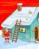 Fundo da celebração do festival do Feliz Natal Imagem de Stock Royalty Free