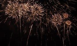 Fundo da celebração dos fogos-de-artifício Imagens de Stock