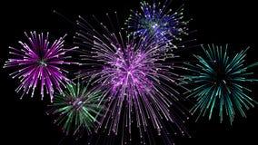 Fundo da celebração dos fogos-de-artifício Fotografia de Stock