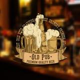 Fundo da cerveja Fotografia de Stock