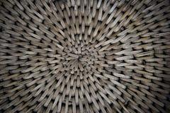 Fundo da cesta de Weave com a luz que shinning completamente Imagens de Stock