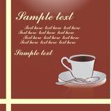 Fundo da xícara de café ilustração royalty free