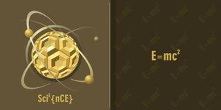 Fundo da ciência ilustração royalty free