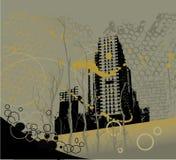 Fundo da cidade de Grunge ilustração royalty free