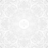Fundo da circular da flor Um desenho estilizado mandala Ornamento estilizado do laço Ornamento floral indiano Foto de Stock Royalty Free