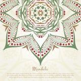 Fundo da circular da flor Um desenho estilizado mandala Ornamento estilizado do laço Ornamento floral indiano Fotos de Stock Royalty Free